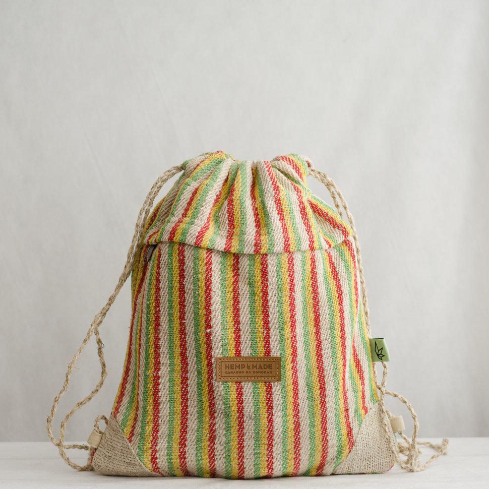 Рюкзак-торба из конопли Хеламбу, раста