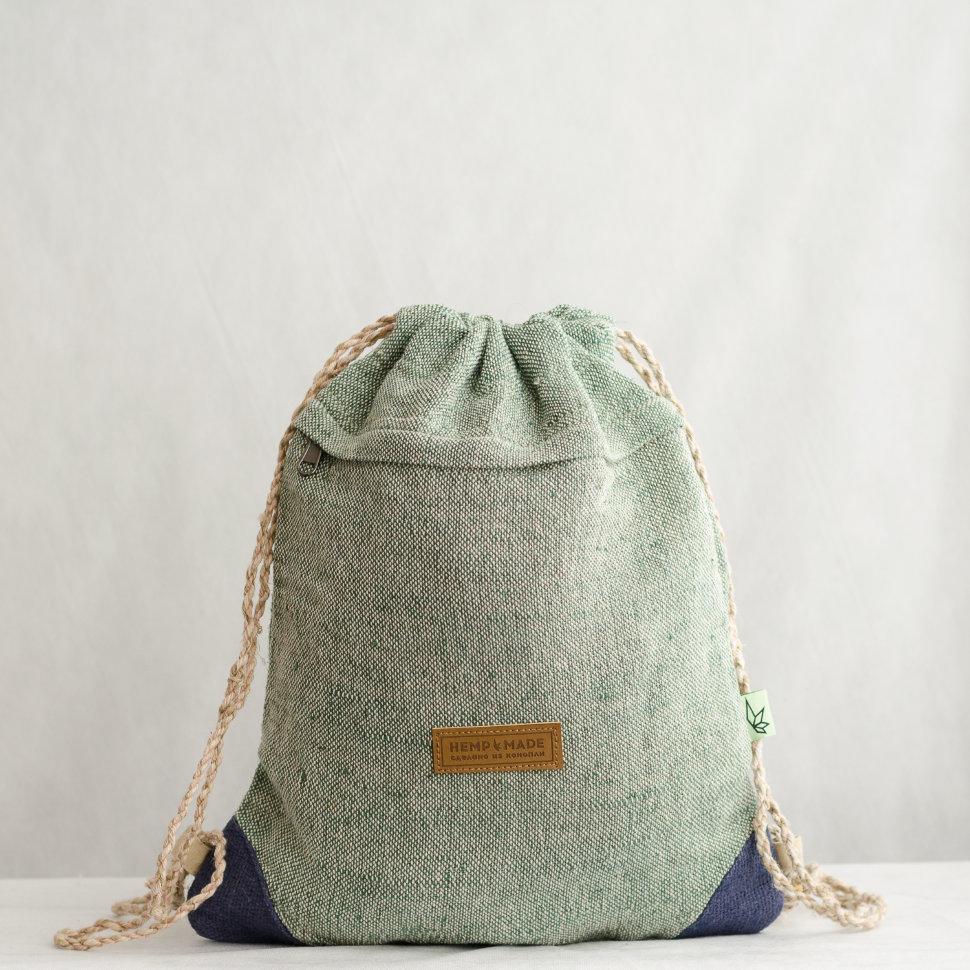 Рюкзак-торба из конопли Хеламбу, голубой