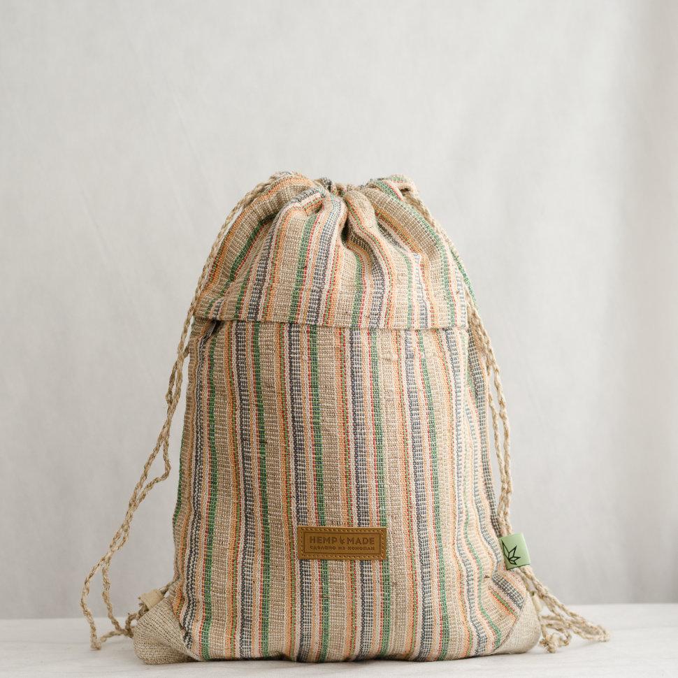 Рюкзак-торба из конопли Хеламбу, бохо