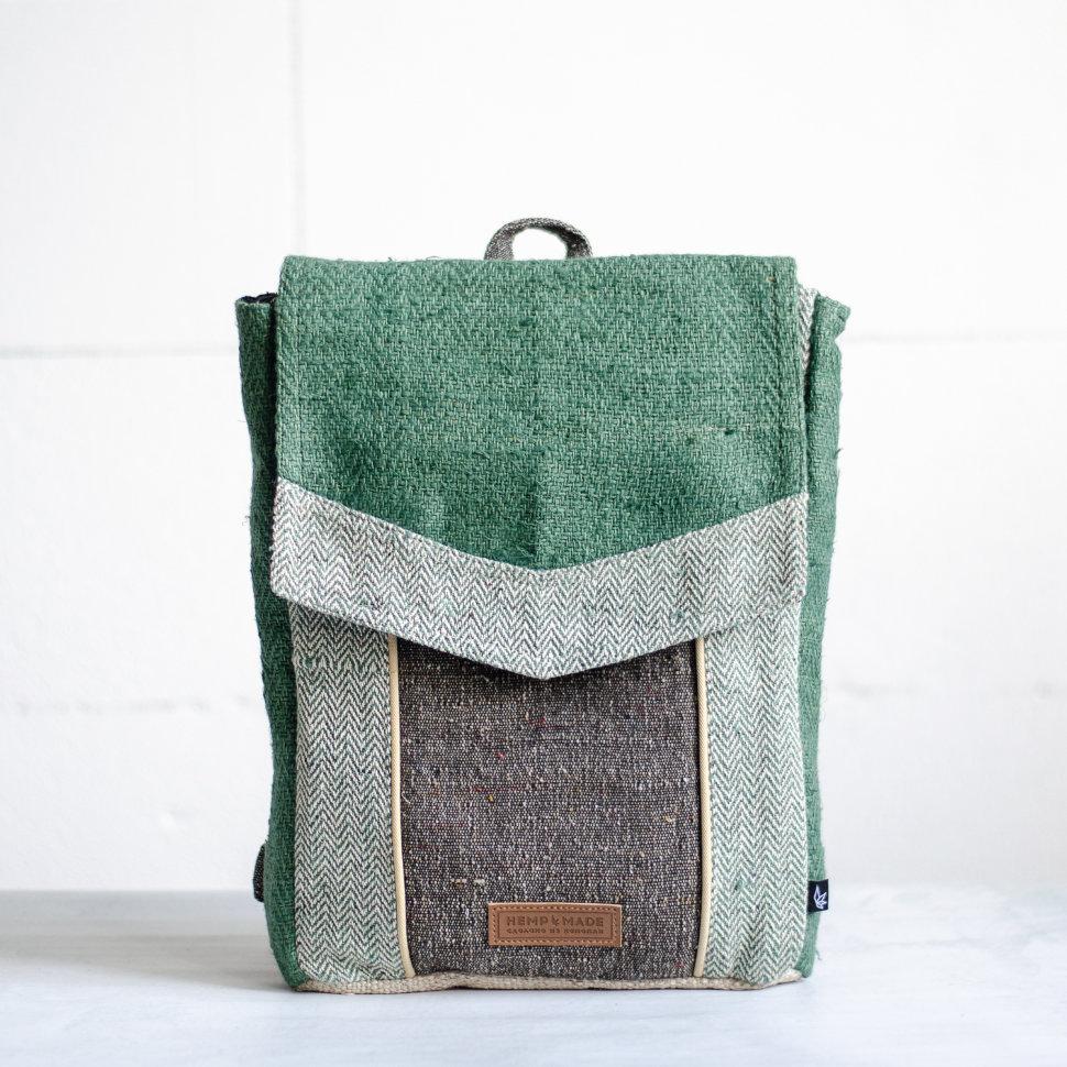 Рюкзак из конопли Сваямбу, зеленый