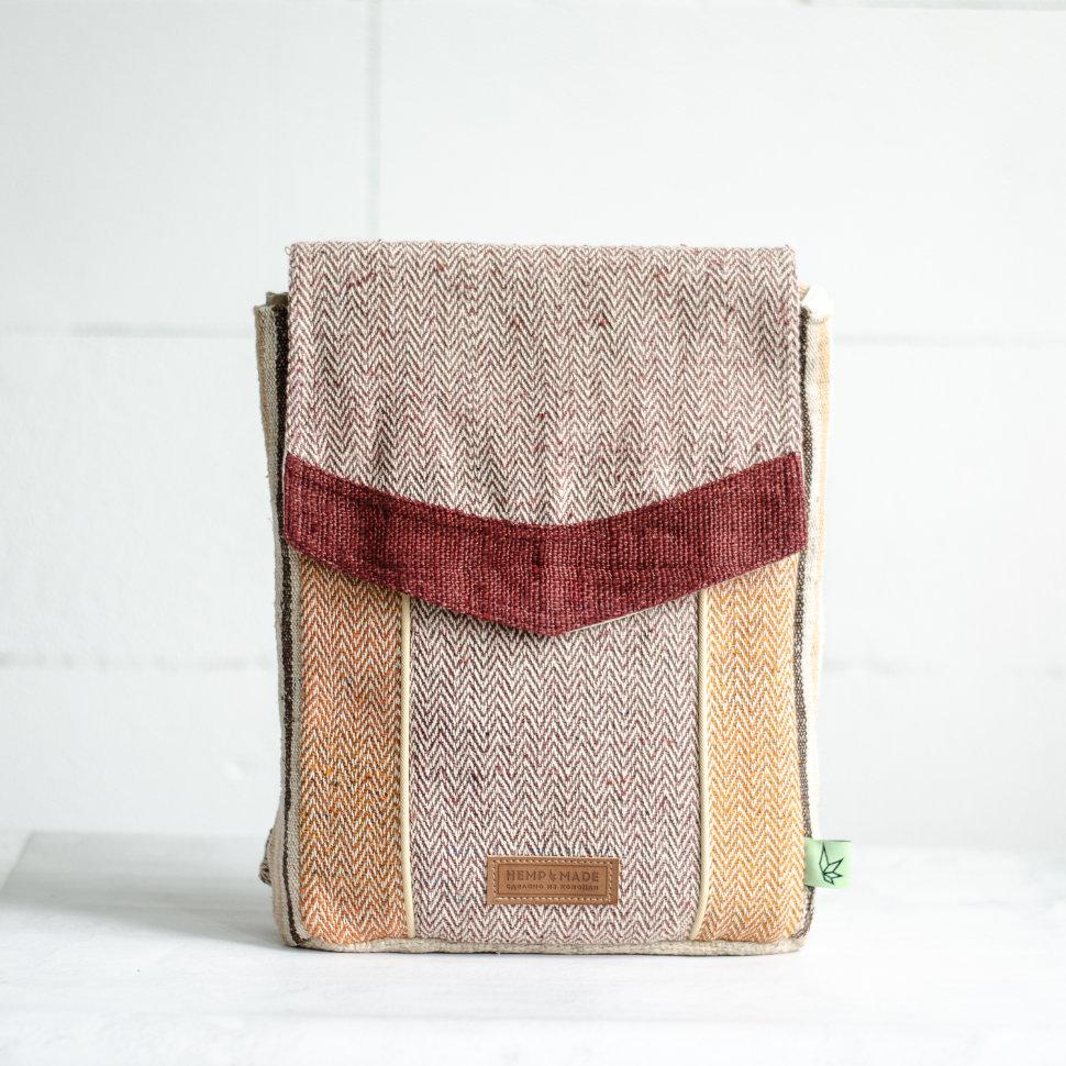 Рюкзак из конопли Сваямбу, коричневый