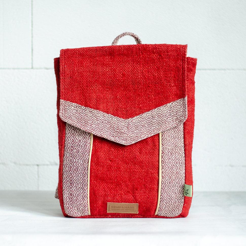 Рюкзак из конопли Сваямбу, красный