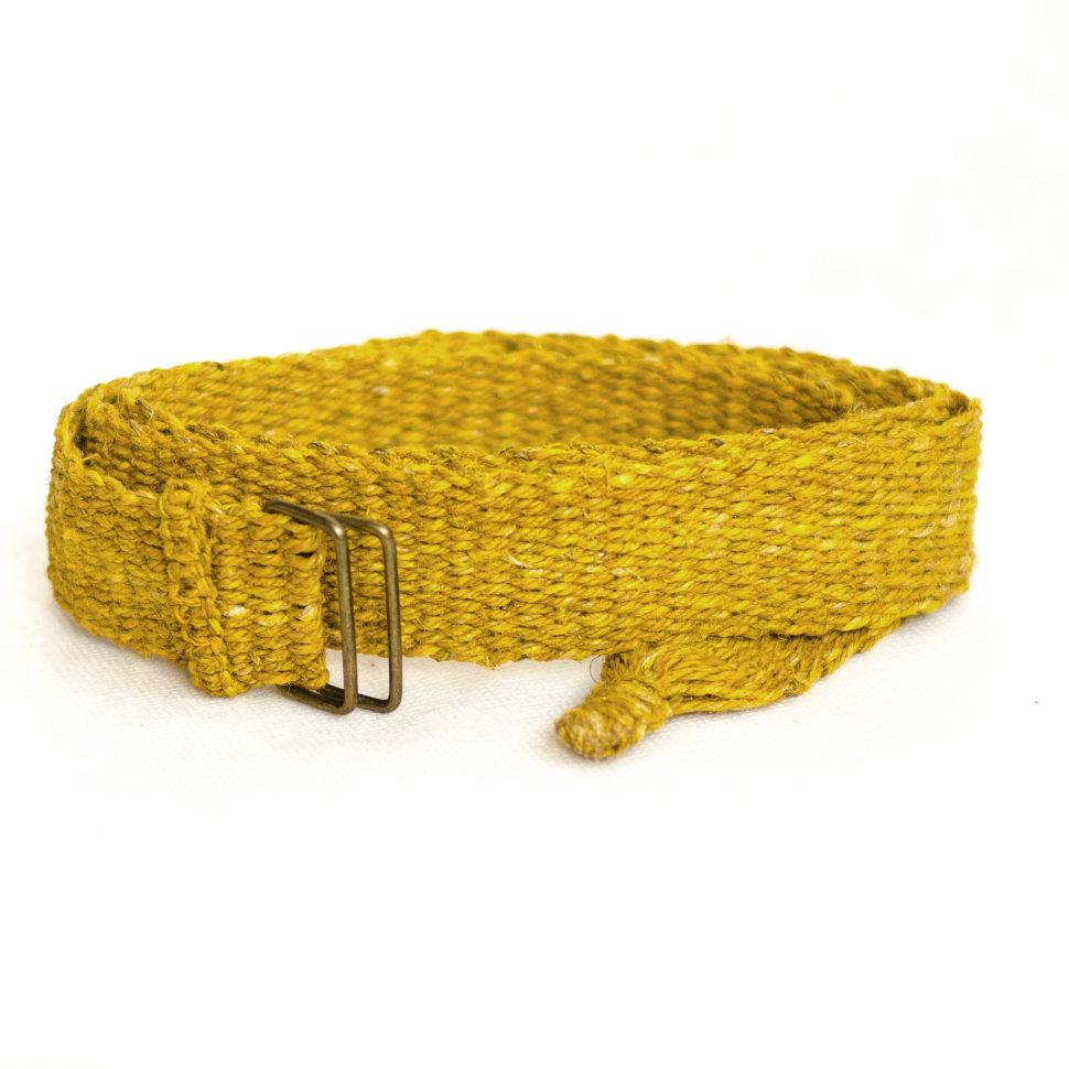 Ремень из конопли желтый