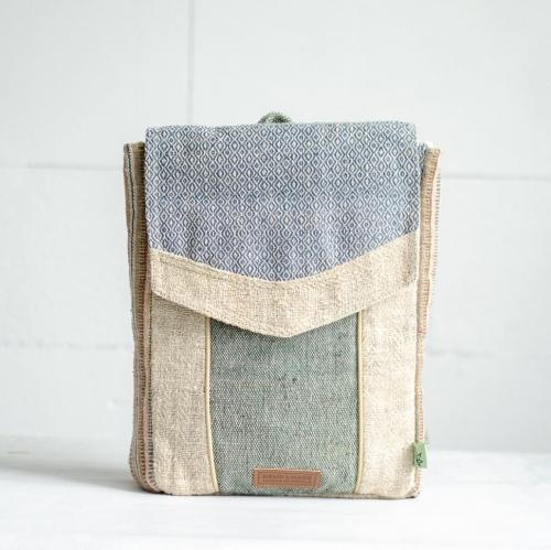Рюкзак из конопли Сваямбу, голубой ромб