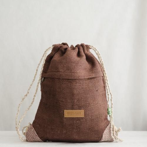 Рюкзак-торба из конопли Хеламбу, коричневый