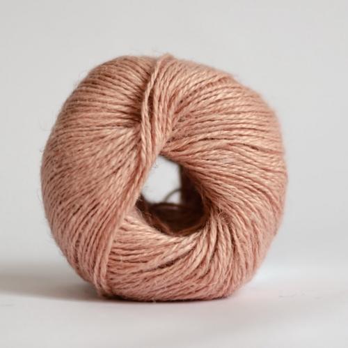 Пряжа 100% конопля пудрово-розовая, 50 г/100 м