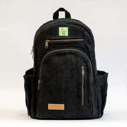 Рюкзак из конопли Патан, черный